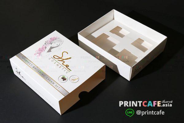 ผลิตกล่องบรรจุภัณฑ์พร้อมพิมพ์โลโก้รับทำกล่องสบู่